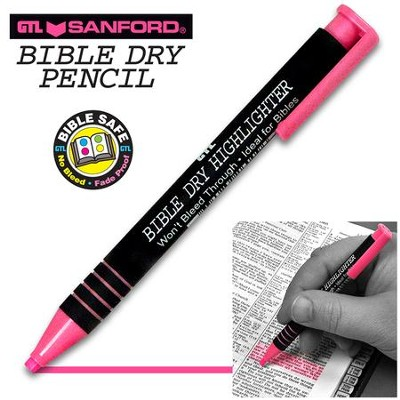 Bible Dry Highlighter, Pink   -