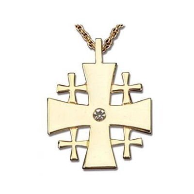 Jeweled Jerusalem Cross  -