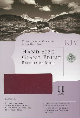 KJV Personal Size Large Print Reference Bible,   Genuine Leather, Burgundy  -