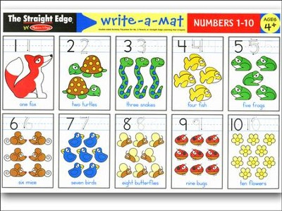 Melissa & Doug Numbers 1-10 Write-a-Mat    -