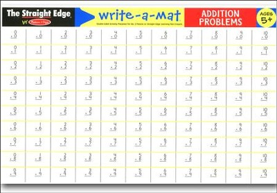 Melissa & Doug Addition Problems Write-a-Mat   -