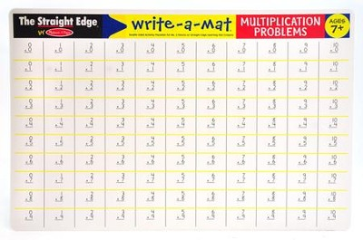 Melissa & Doug Multiplication Problems Write-a-Mat   -