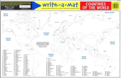Melissa & Doug Countries of the World Write-a-Mat   -