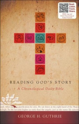 HCSB Reading God's Story: A Chronological Daily Bible, Paperback   -