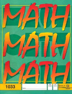 Latest Edition Math PACE 1033 Grade 3  -