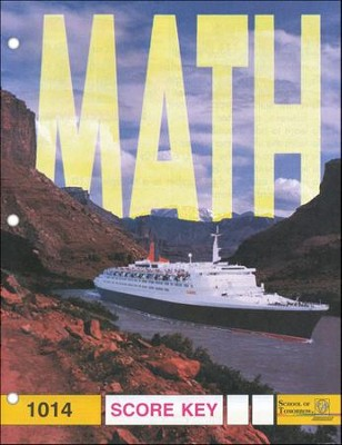 Latest Edition Math PACE SCORE Key 1014, Grade 2   -