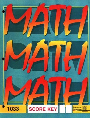 Latest Edition Math PACE SCORE Key 1033 Grade 3  -