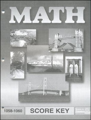 Latest Edition Math PACE SCORE Key 1058-1060  -