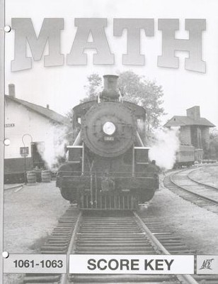 Latest Edition Math PACE SCORE Key 1061-1063 Grade 6  -
