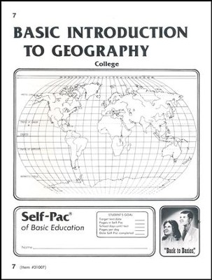 Introduction To Geography Self-Pac 7  -