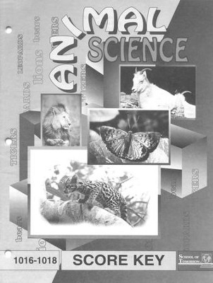 Animal Science PACE SCORE Key 1016-1018, Grade 2   -