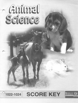 Animal Science PACE SCORE Key 1022-1024, Grade 2   -