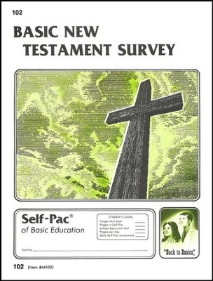New Testament Survey Self-Pac 102, Grades 9-12   -