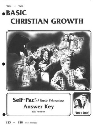 High School Bible Elective: Christian Growth SCORE Key 133-138  -