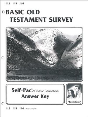 Old Testament Survey Key 112-114  -