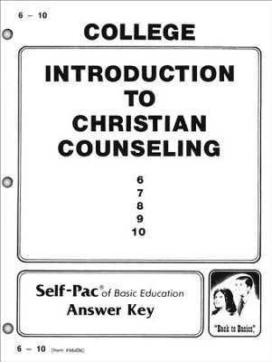Introduction To Christian Counsel Key 6-10  -