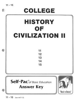 History Of Civilization 2 Key 11-15   -