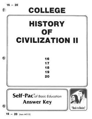 History Of Civilization 2 Key 16-20   -