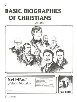 Biographies Of Christians Self-Pac 3, Grades 9-12   -