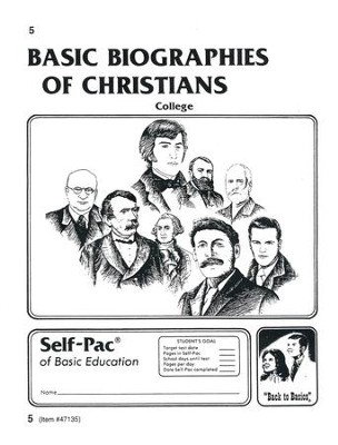 Biographies Of Christians Self-Pac 5, Grades 9-12   -