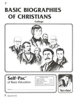 Biographies Of Christians Self-Pac 7, Grades 9-12   -
