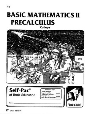 College Math 2 Precalculus Self-Pac 17  -
