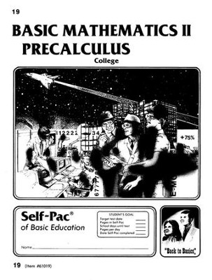 College Math 2 Precalculus Self-Pac 19  -