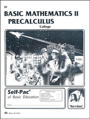 College Math 2 Precalculus Self-Pac 20  -