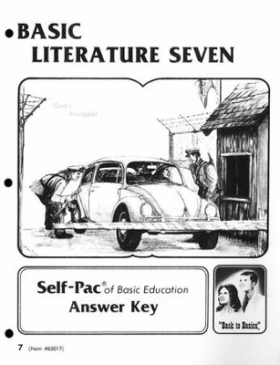 Basic Literature 7 Score Key  -