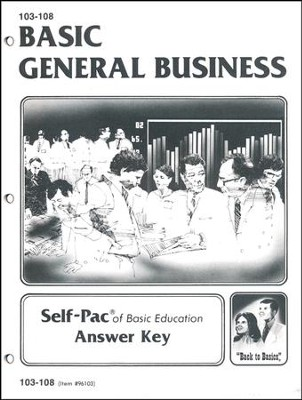 General Business Key 103-108 Grade 9  -