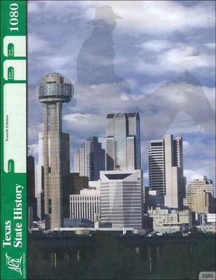 4th Edition Texas State History PACE 1080 Grade 7  -