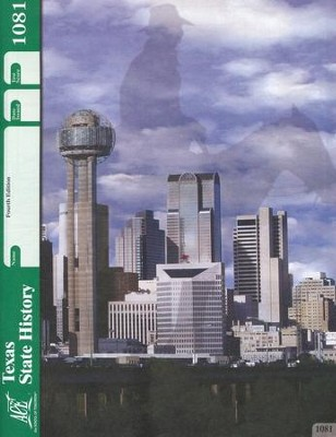 4th Edition Texas State History PACE 1081 Grade 7  -