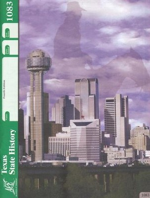 4th Edition Texas State History PACE 1083 Grade 7  -