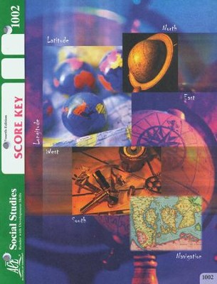 4th Edition Social Studies SCORE Key 1002 Grade 1  -