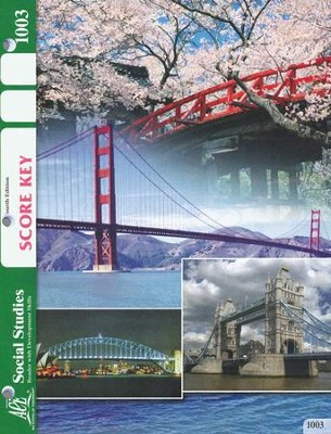 4th Edition Social Studies SCORE Key 1003 Grade 1  -