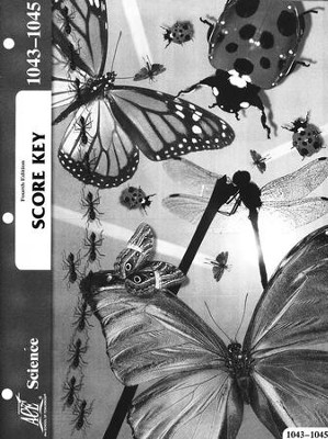 4th Edition Science PACE SCORE Key 1043-1045 Grade 4  -