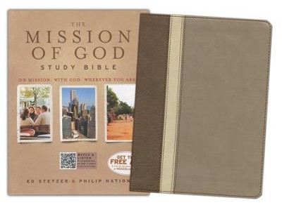 HCSB The Mission of God Study Bible, Brown, Cream & Taupe Simulated Leather - Slightly Imperfect  -