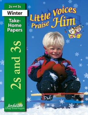 Little Voices Praise Him (ages 2 & 3) Take-Home Papers   -