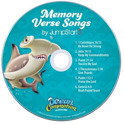 Ocean Commotion VBS Contemporary: Memory Verse Student Audio  CDs (Pack of 10)  -