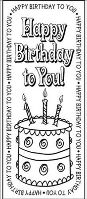 Birthday Bookmark    -