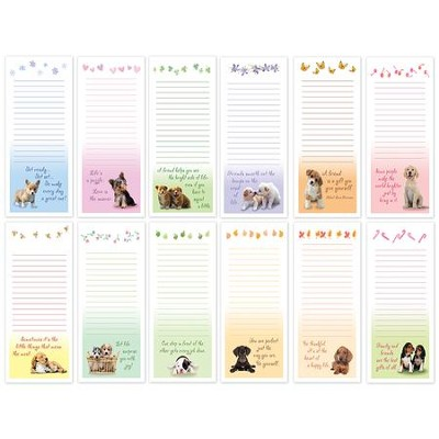 Puppy Memo Pads, Set of 12  -