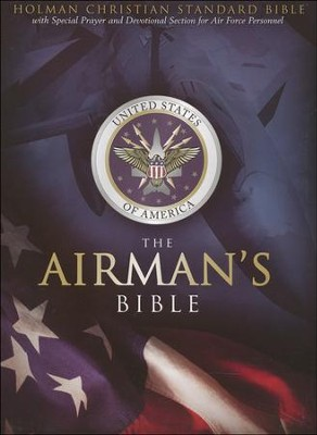 HCSB Airman's Bible, Blue Simulated Leather - Imperfectly Imprinted Bibles  -