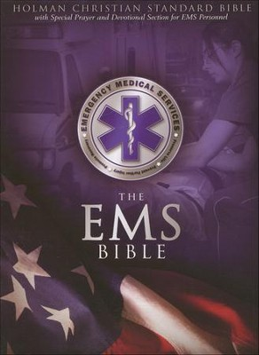 HCSB Emergency Medical Services Bible, Blue Simulated Leather  -