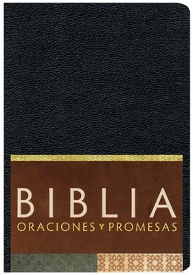 Biblia Oraciones y Promesas RVC, Piel Sim. Negra  (RVC Prayers & Promises Bible, Black Sim. Leather)  -