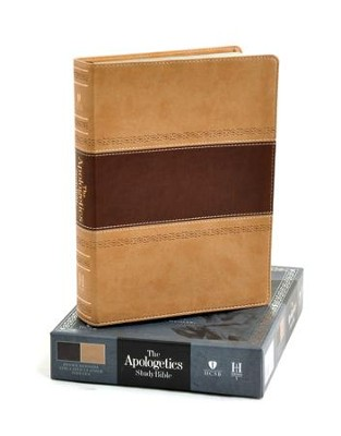 HCSB Apologetics Study Bible, Brown & Tan Simulated Leather, Indexed  -