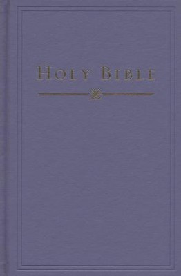 HCSB Pew/Church Bible, Hardcover, Slate Blue   -