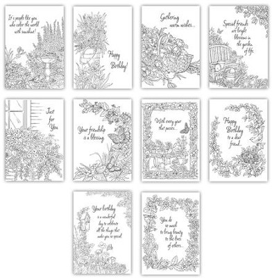 Coloring Cards, Pack of 20  -