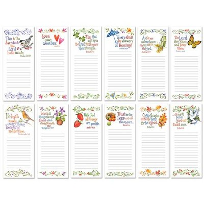 Seasonal Inspirational Memo Pads, Pack of 12  -