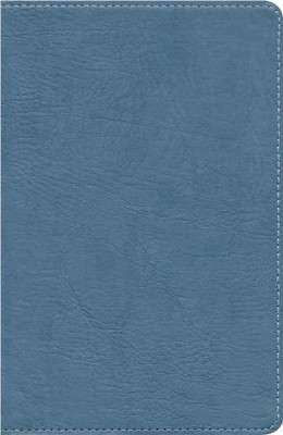 HCSB UltraThin Reference Bible, Mantova blue imitation leather  -