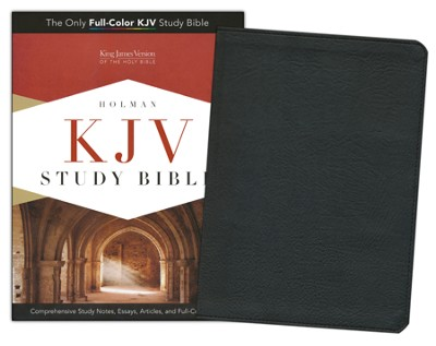 KJV Study Bible, Black Mantova imitation leather, indexed  -